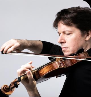 Joshua Bell playing his violin.