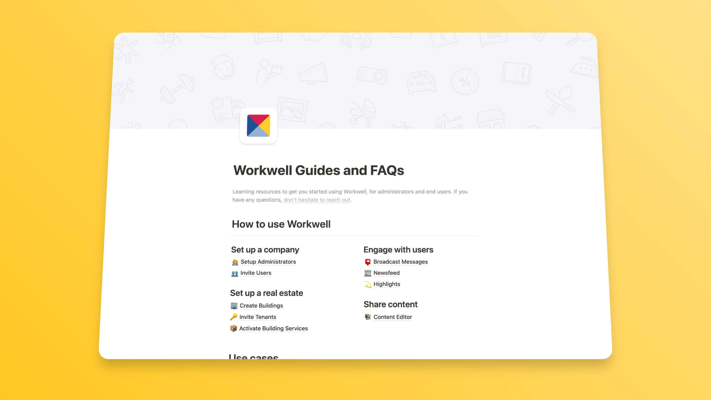 Workwell Help Center Template