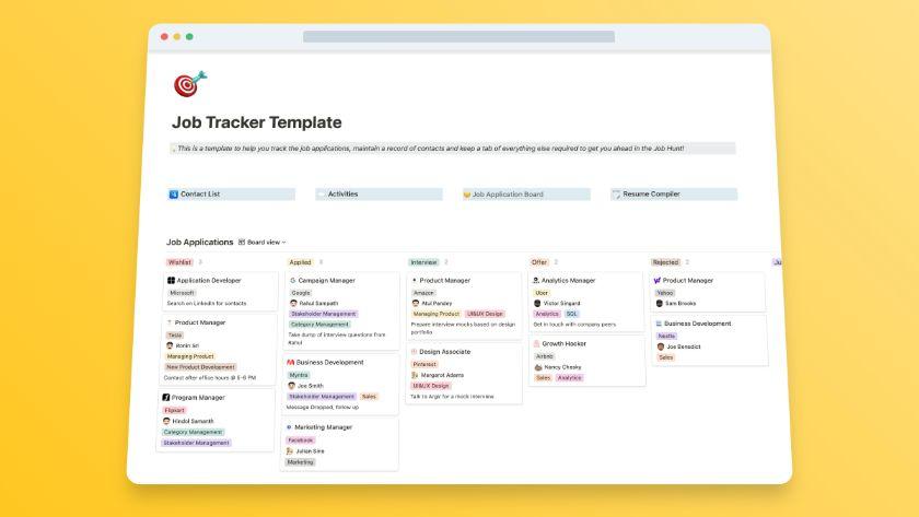Job Applications + Tracker Template