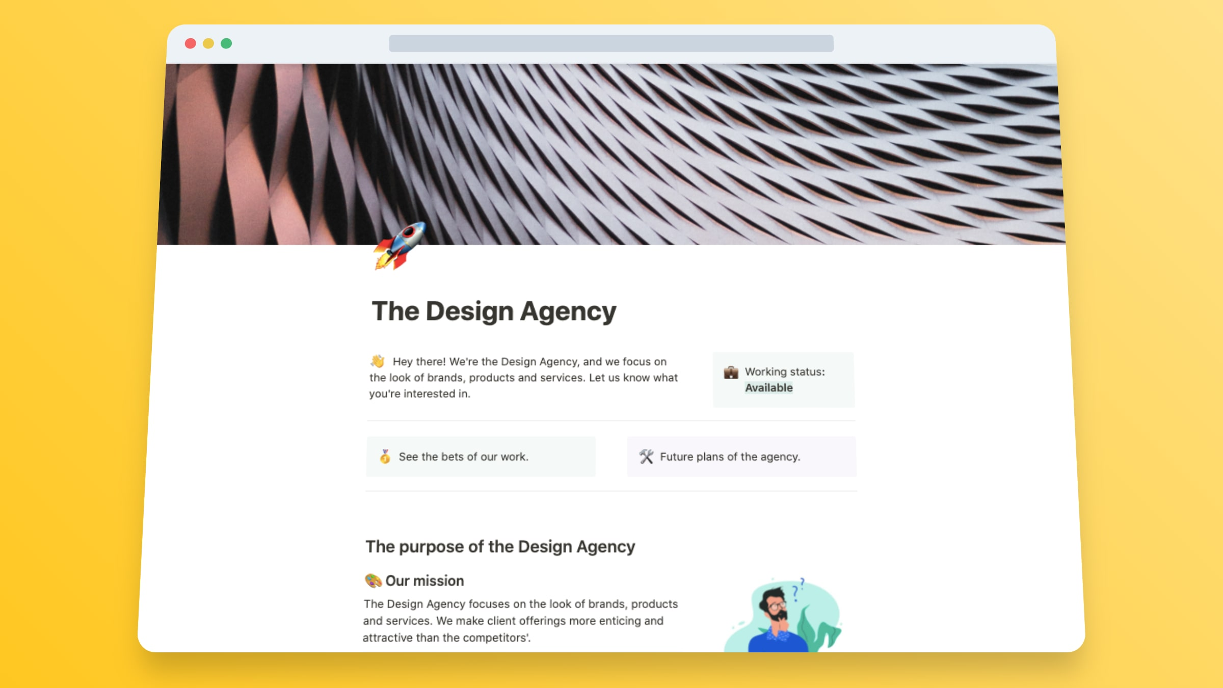 Design Agency Website Template: Rockets