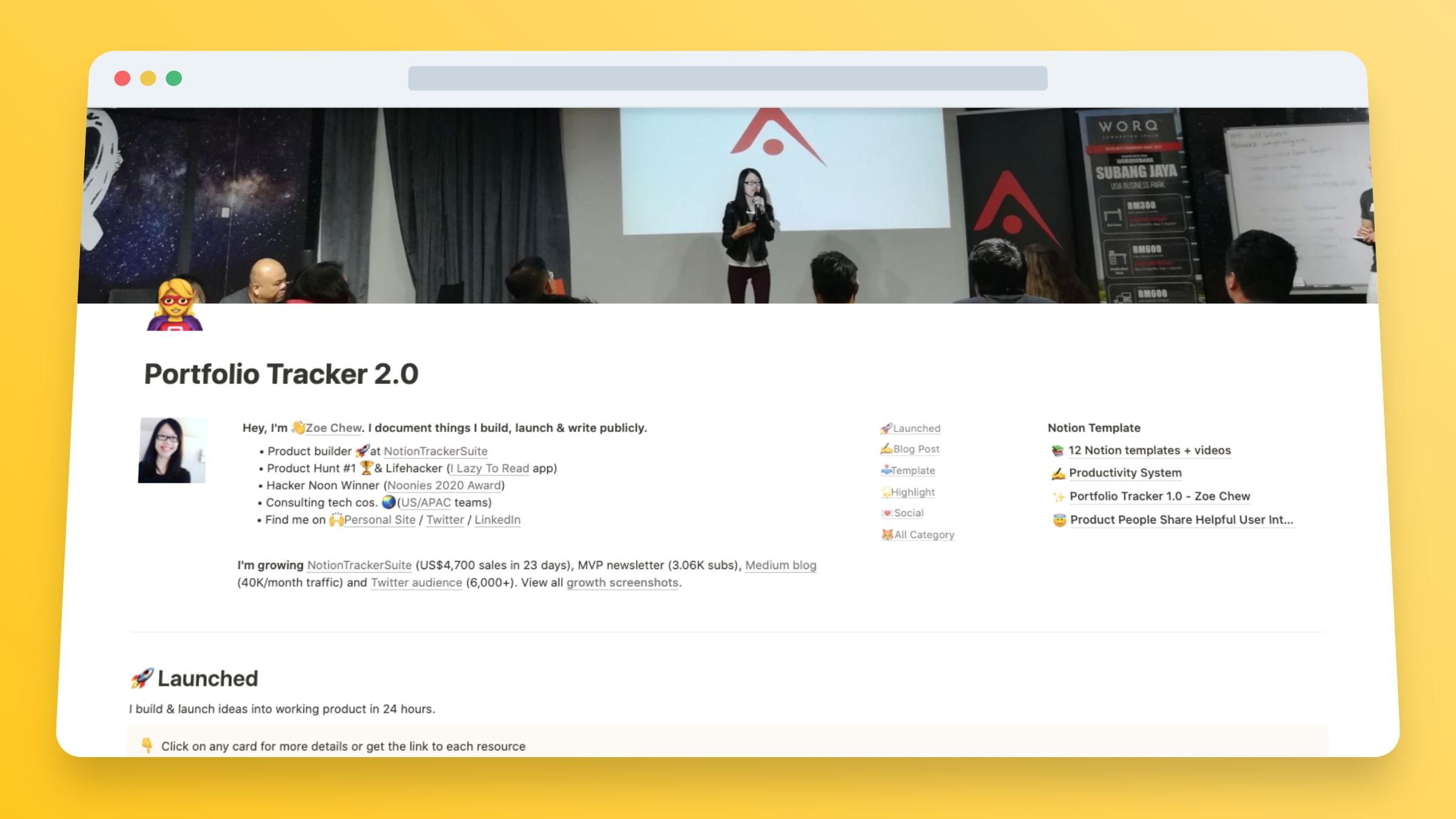 Portfolio Website Builder In Notion
