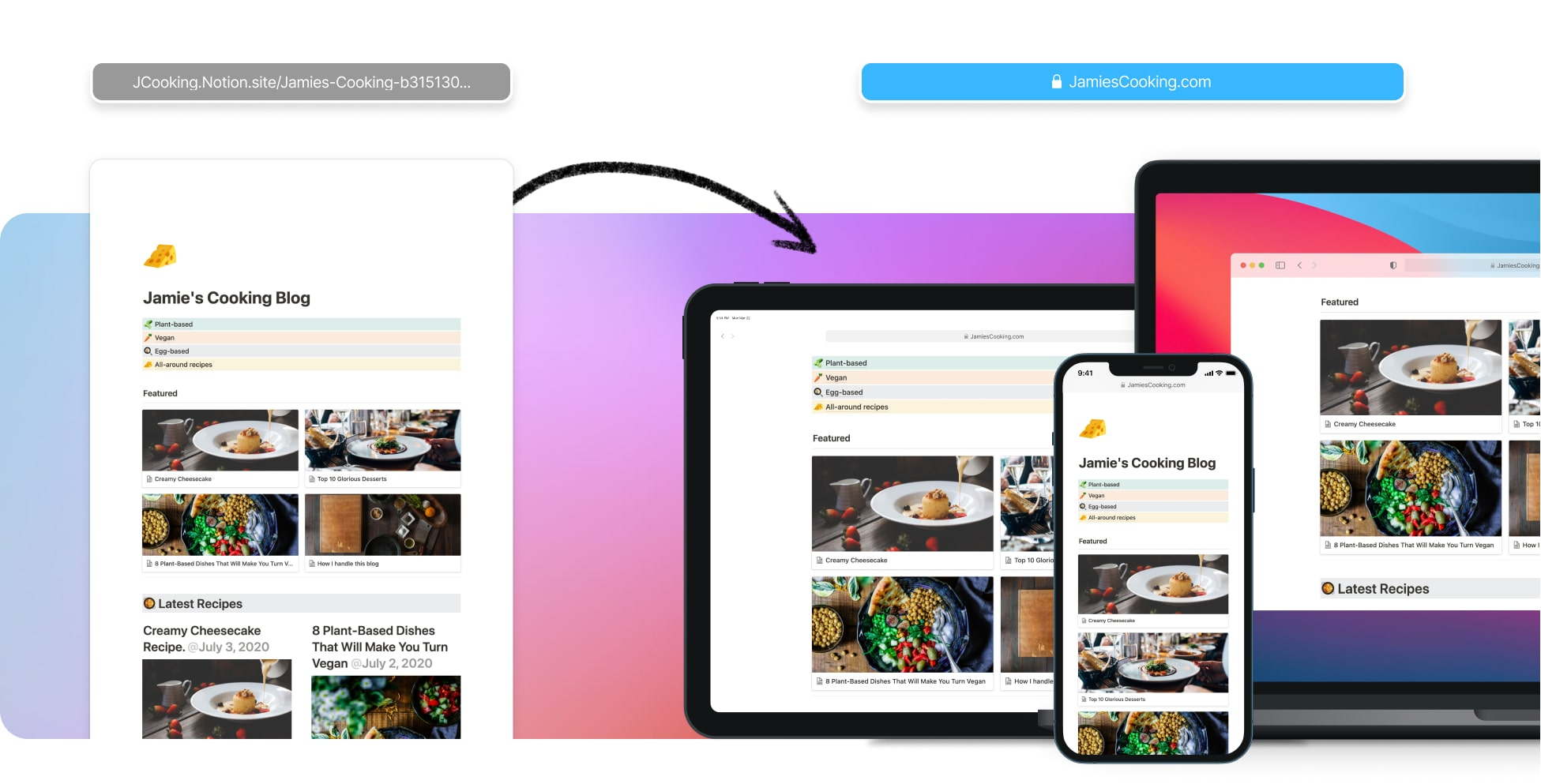 Create a Blog with Notion