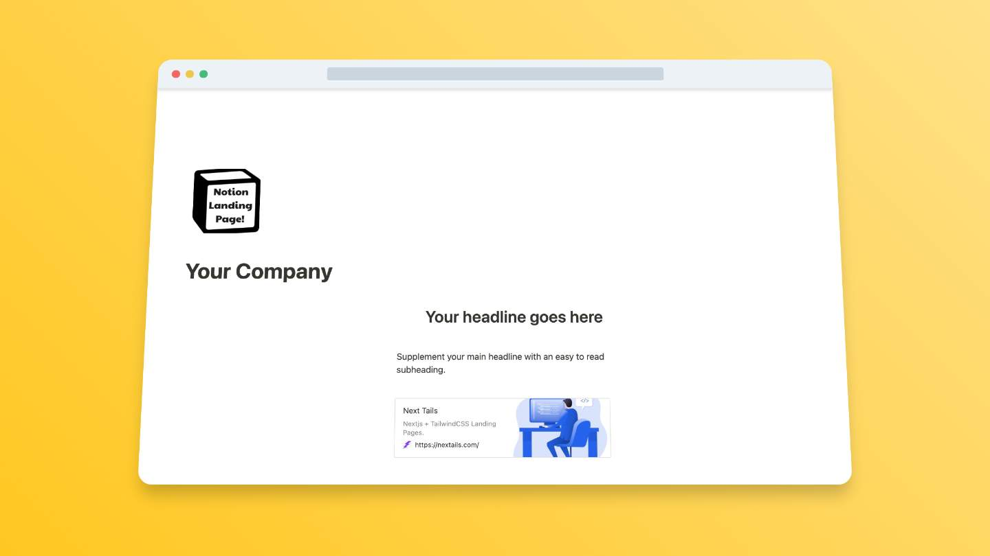 Simple Landing Page Template