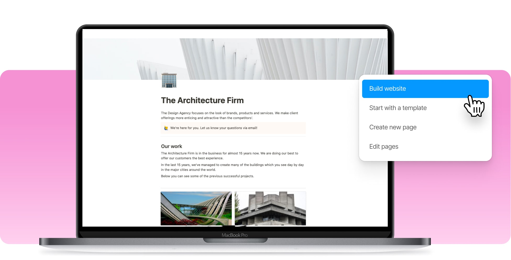 Build An Architecture Firm Website In Notion