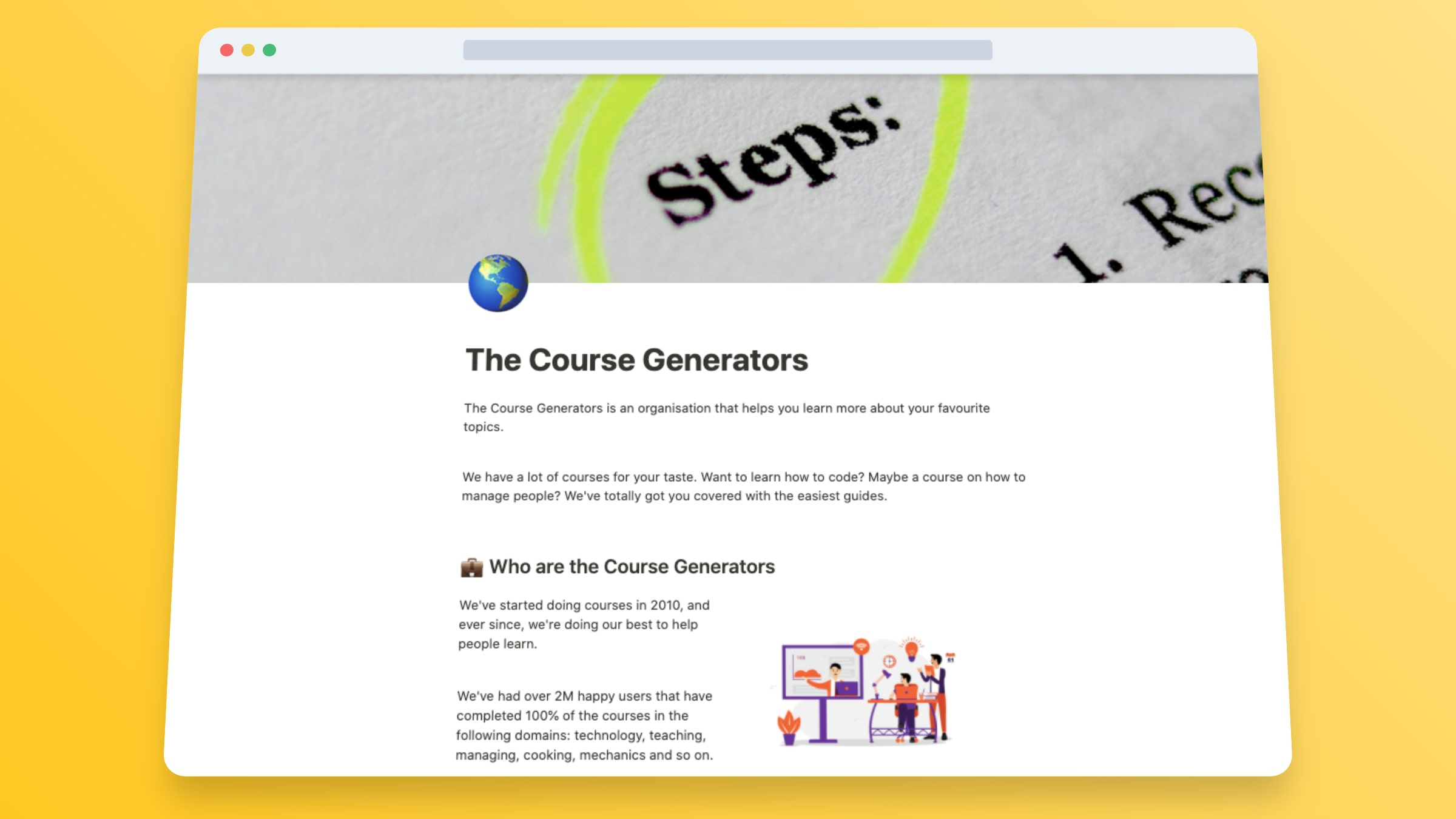 Build A Course Website In Notion