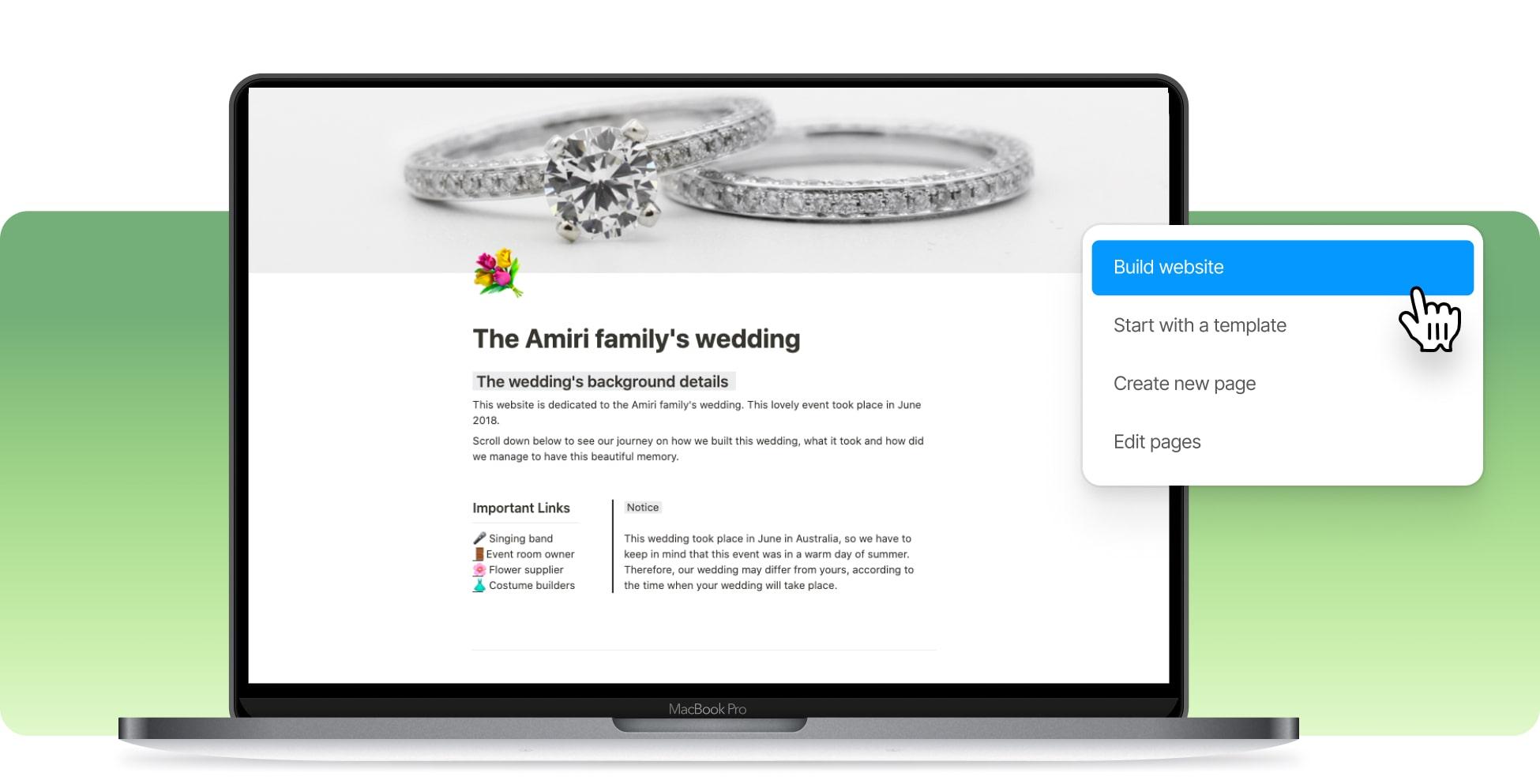 Build A Wedding Website In Notion