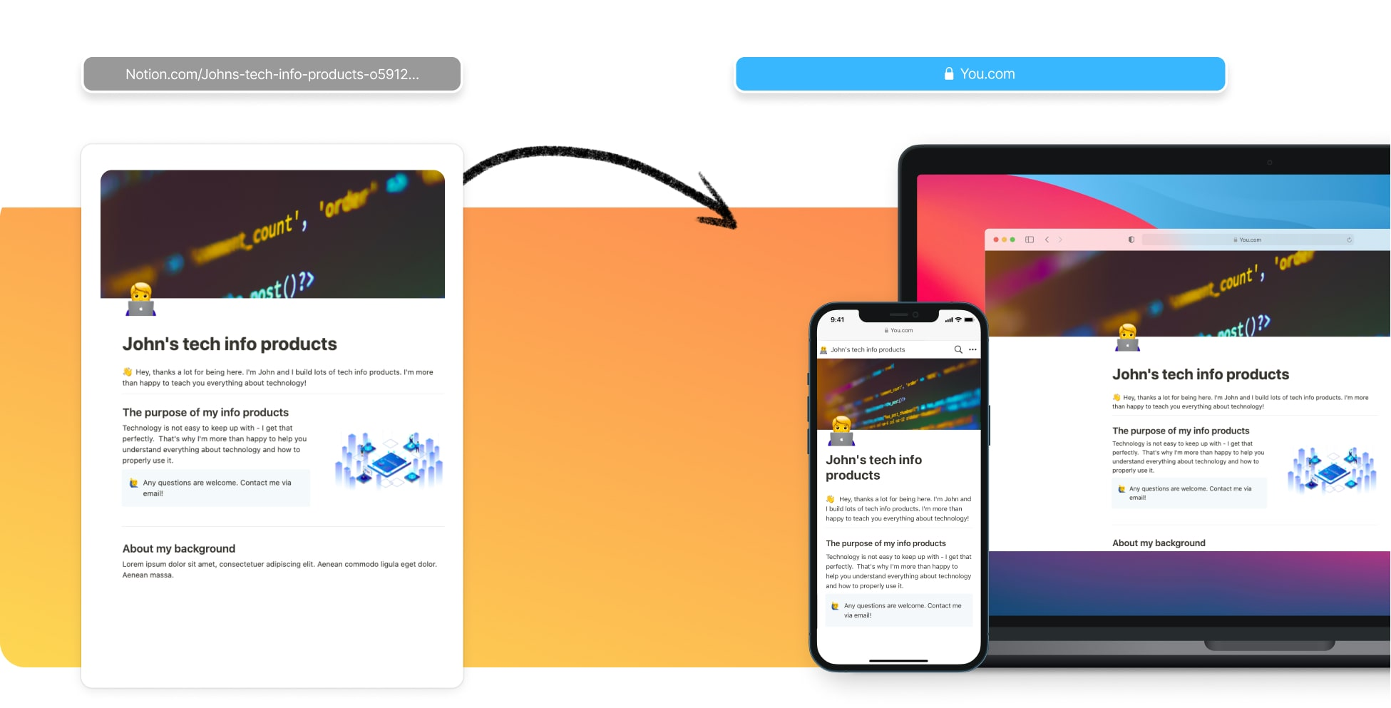 Create An Info Product Website In Notion