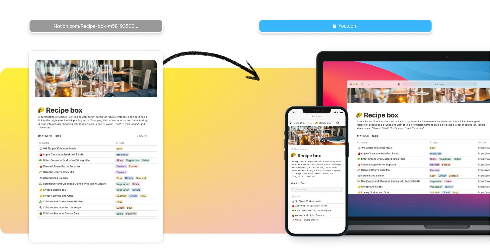Create A Restaurant Website In Notion