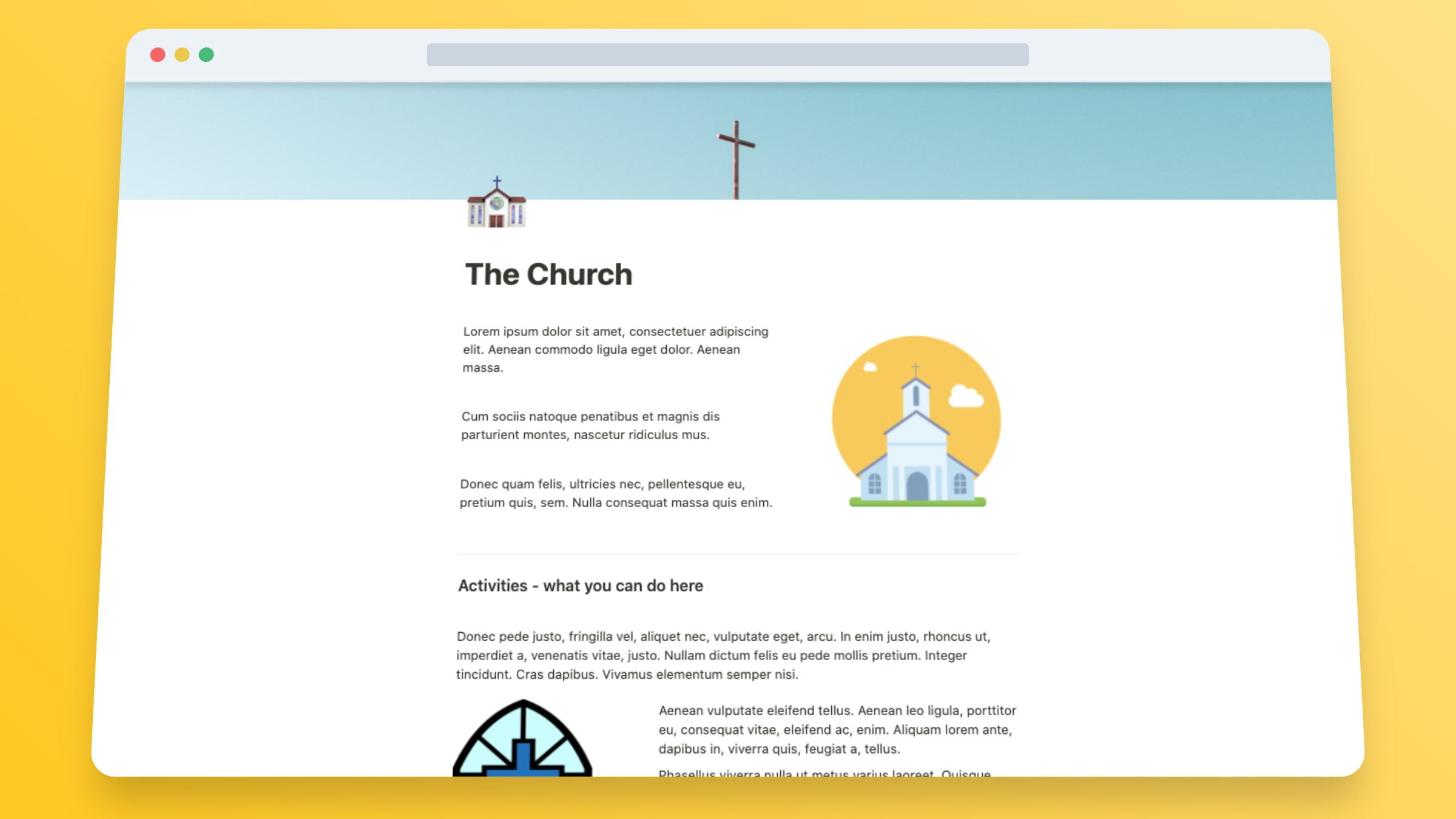 Church Website Templates In Notion