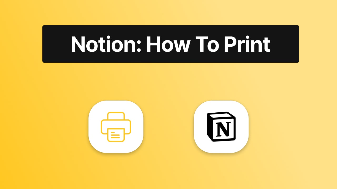 How to print from Notion