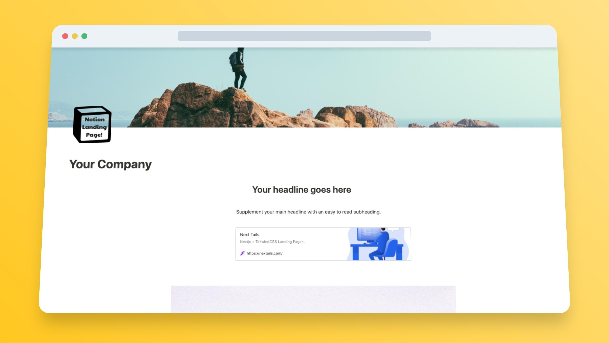 Startup Landing Page Template - Bilal Tahir