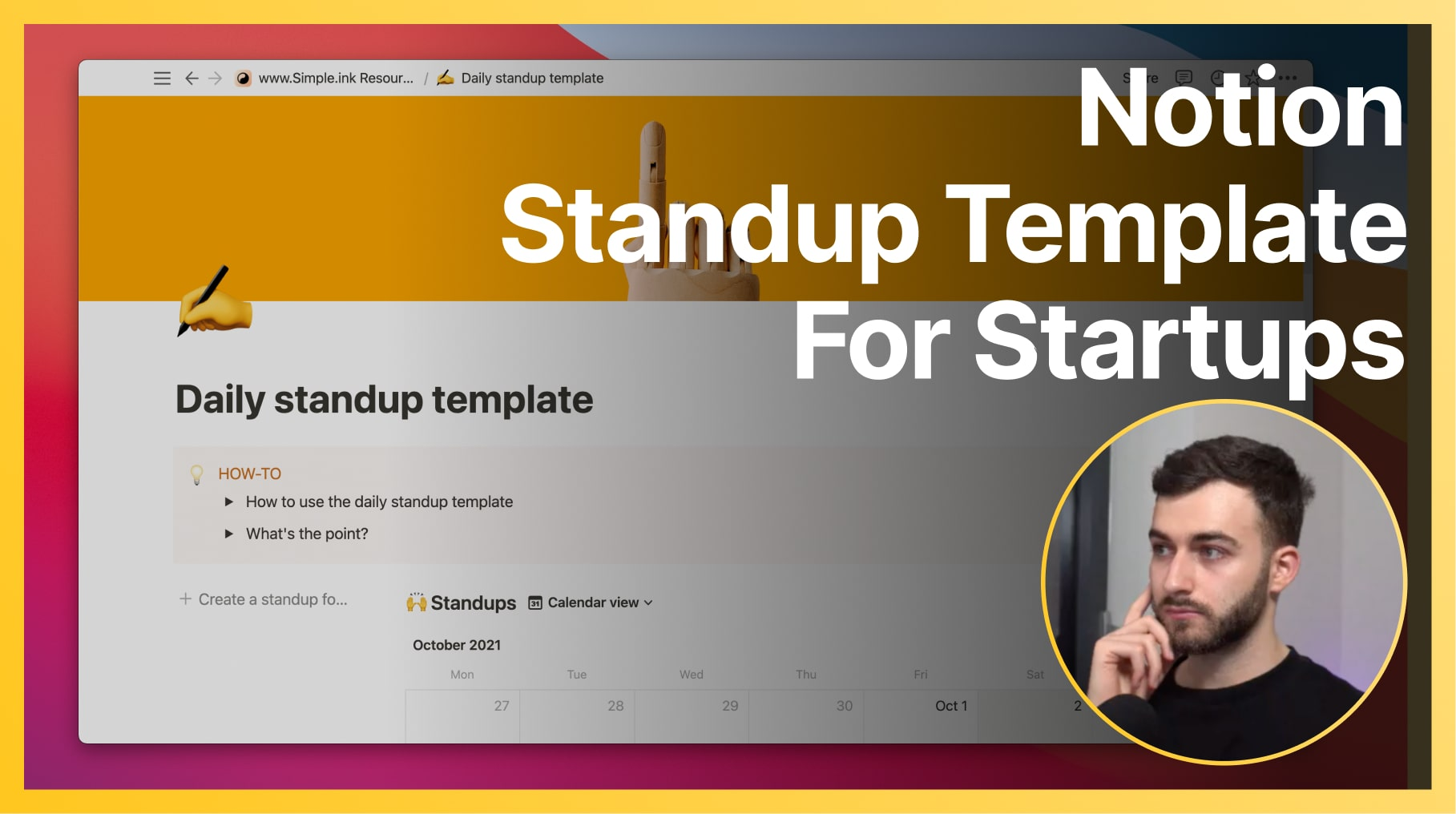 How to use the Notion Standup Template for Startups