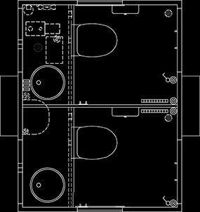Toiletvogn tegning 240 vakuum