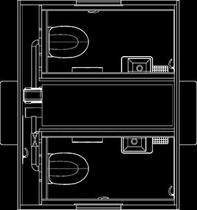 Toiletvogn tegning 240 EventCube