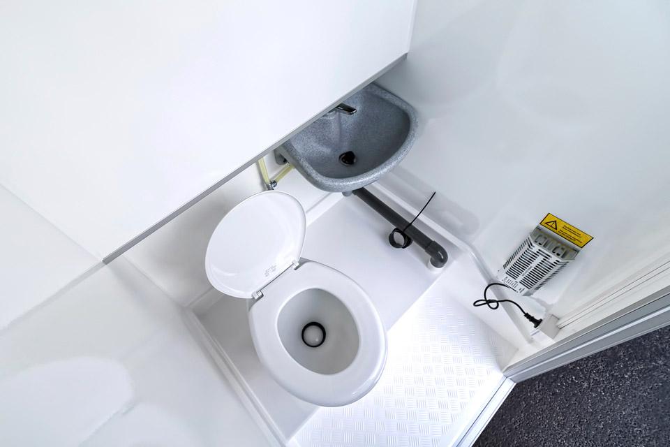 WC-Flex toiletvogn indefra