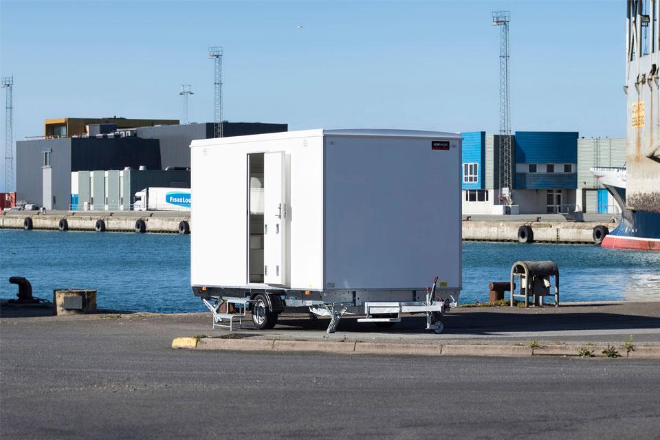 Kontorvogn på havn