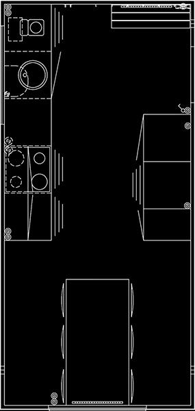 Køkkenvogn tegning 520