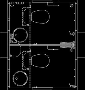 Toiletvogn tegning 240 vandskyllende