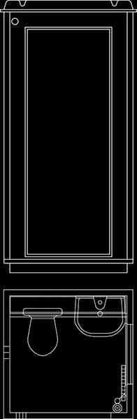 WC-Flex toiletvogn tegning