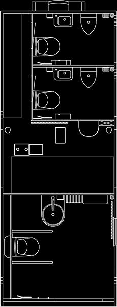 Toiletmodul tegning