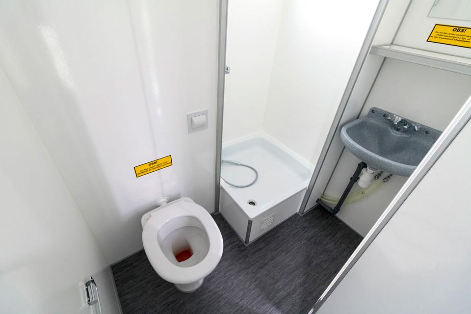 Beboelsesvogn badeværelse