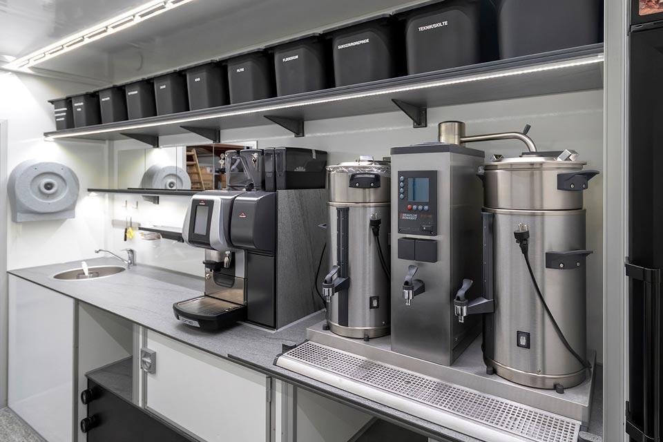 Salgsvogn til kaffe