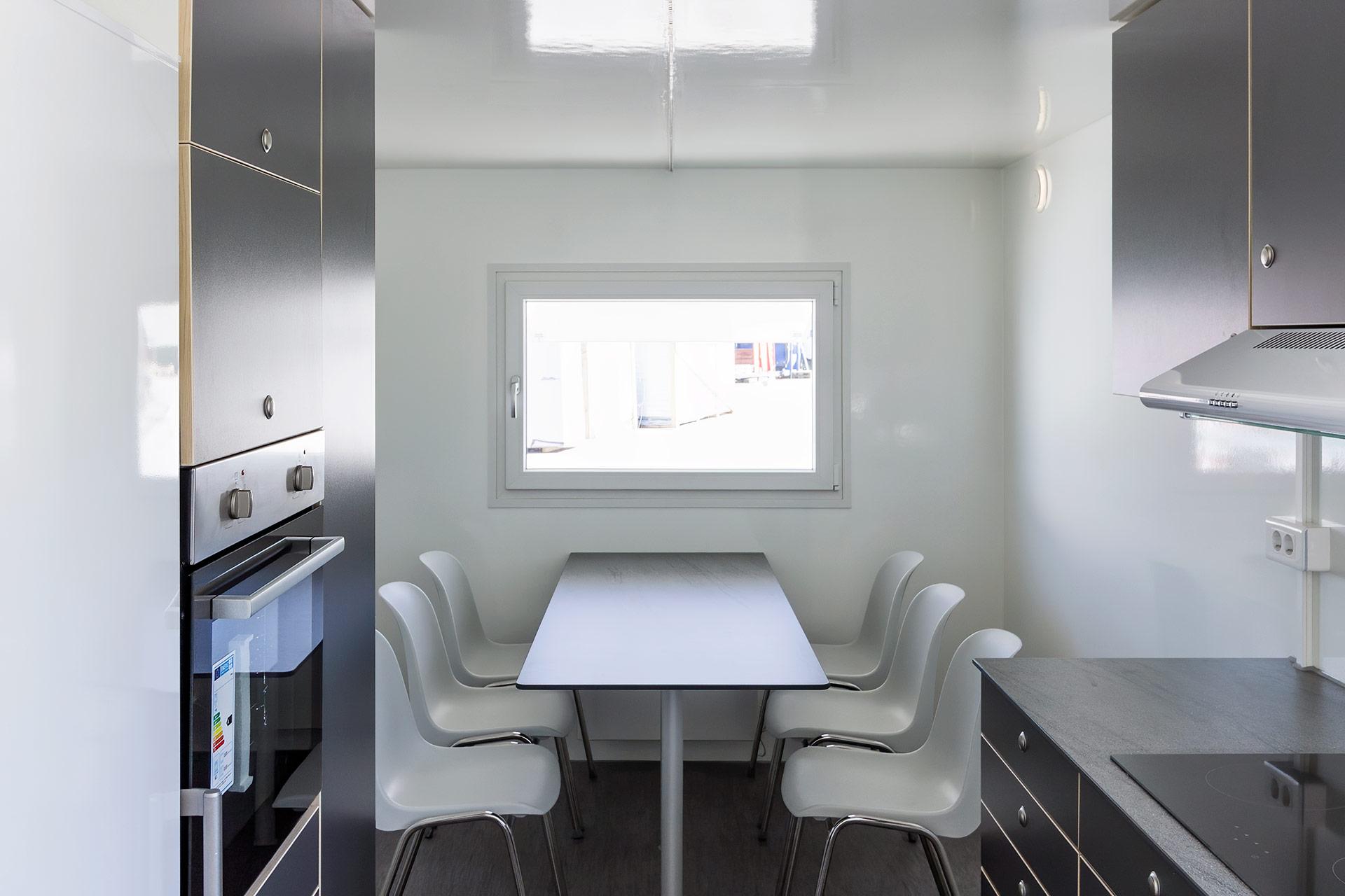 Køkkenvogn spiseområde
