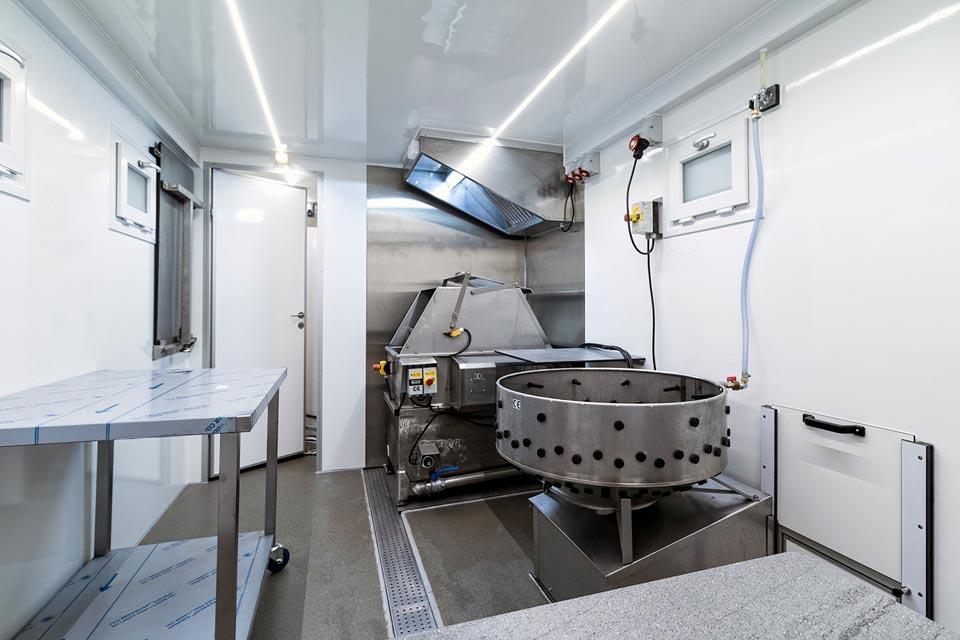 Mobilt slagteri renserum