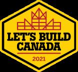 Let's Build Canada 2021 logo.