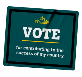 Vote for contributing to the success of my country sticker.
