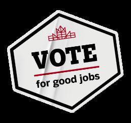 Vote for good gobs sticker.