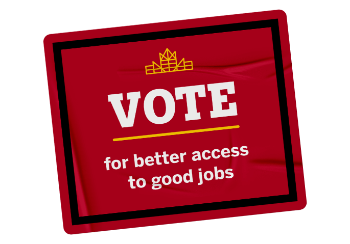 Badge for better access to good jobs