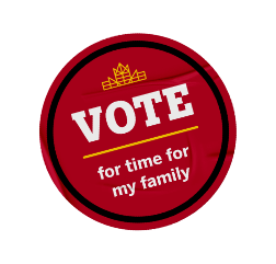 Vote for time for my family sticker.