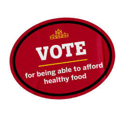 Vote for being able to afford healthy food sticker.