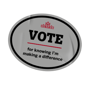Vote for knowing I'm making a difference sticker.