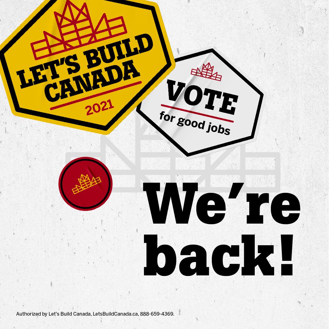 Let's Build Canada 2021 Instagram launch post.
