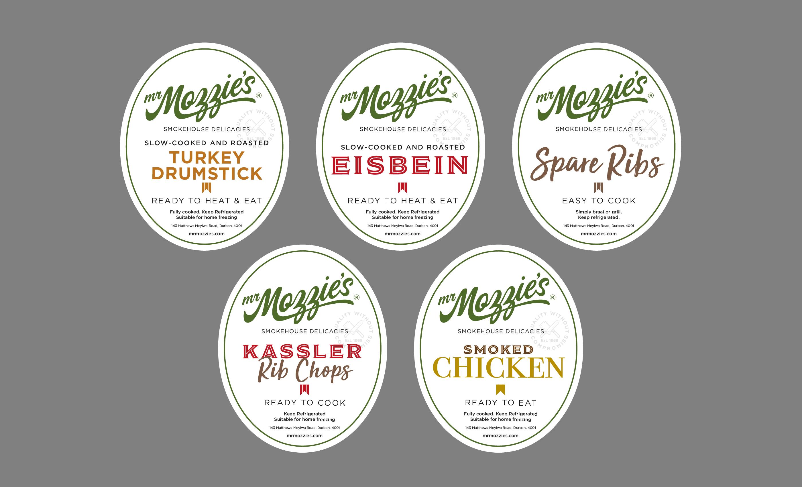 Mr Mozzie's Labels