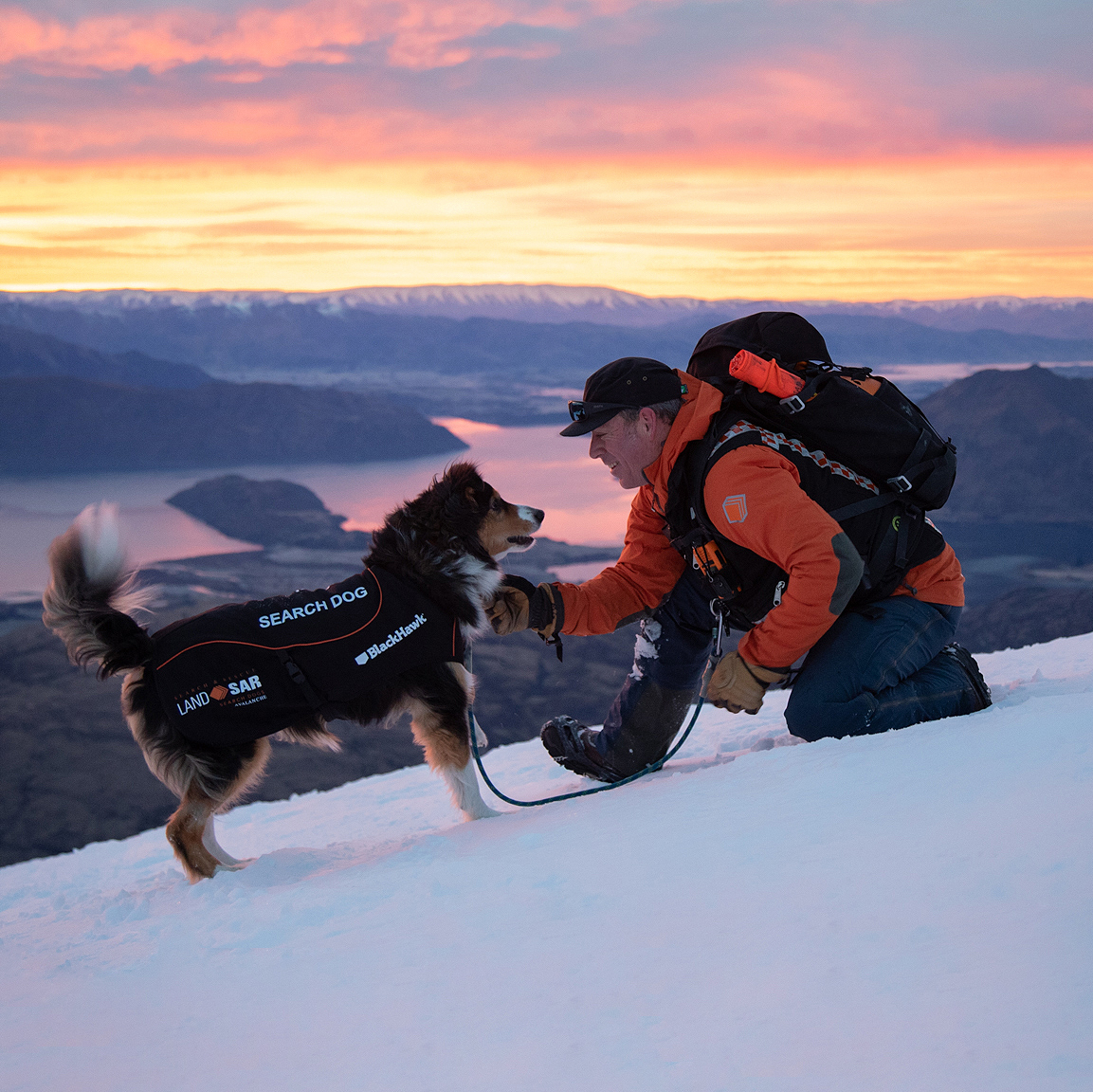 Masterpet: Black Hawk Hero Image of Land search and rescue dog and owner