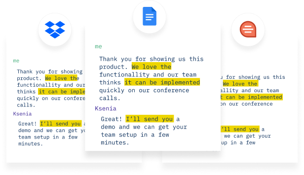 Tactiq save transcript to GDoc, Dropbox, Quip