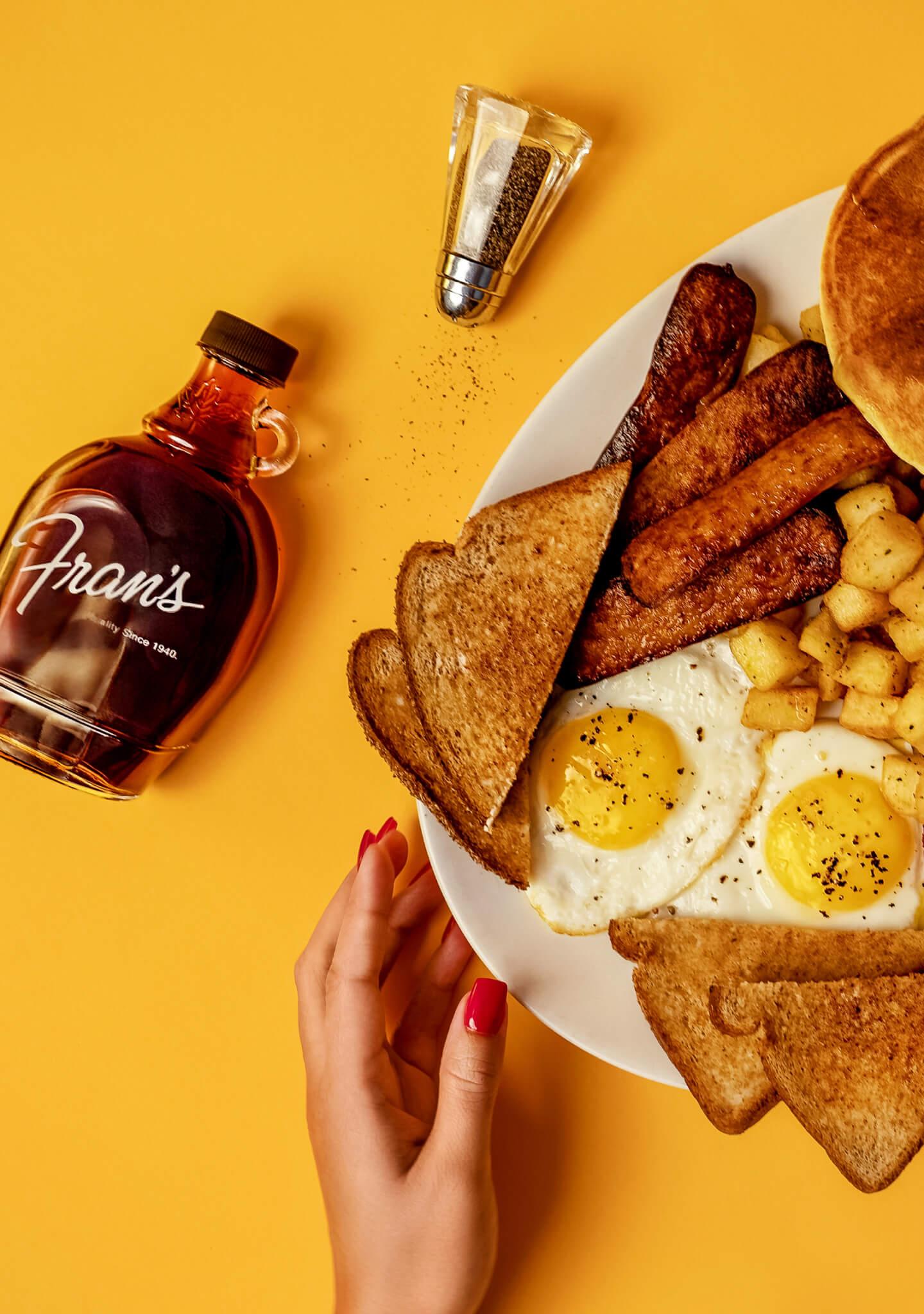 big breakfast from fran's restaurant