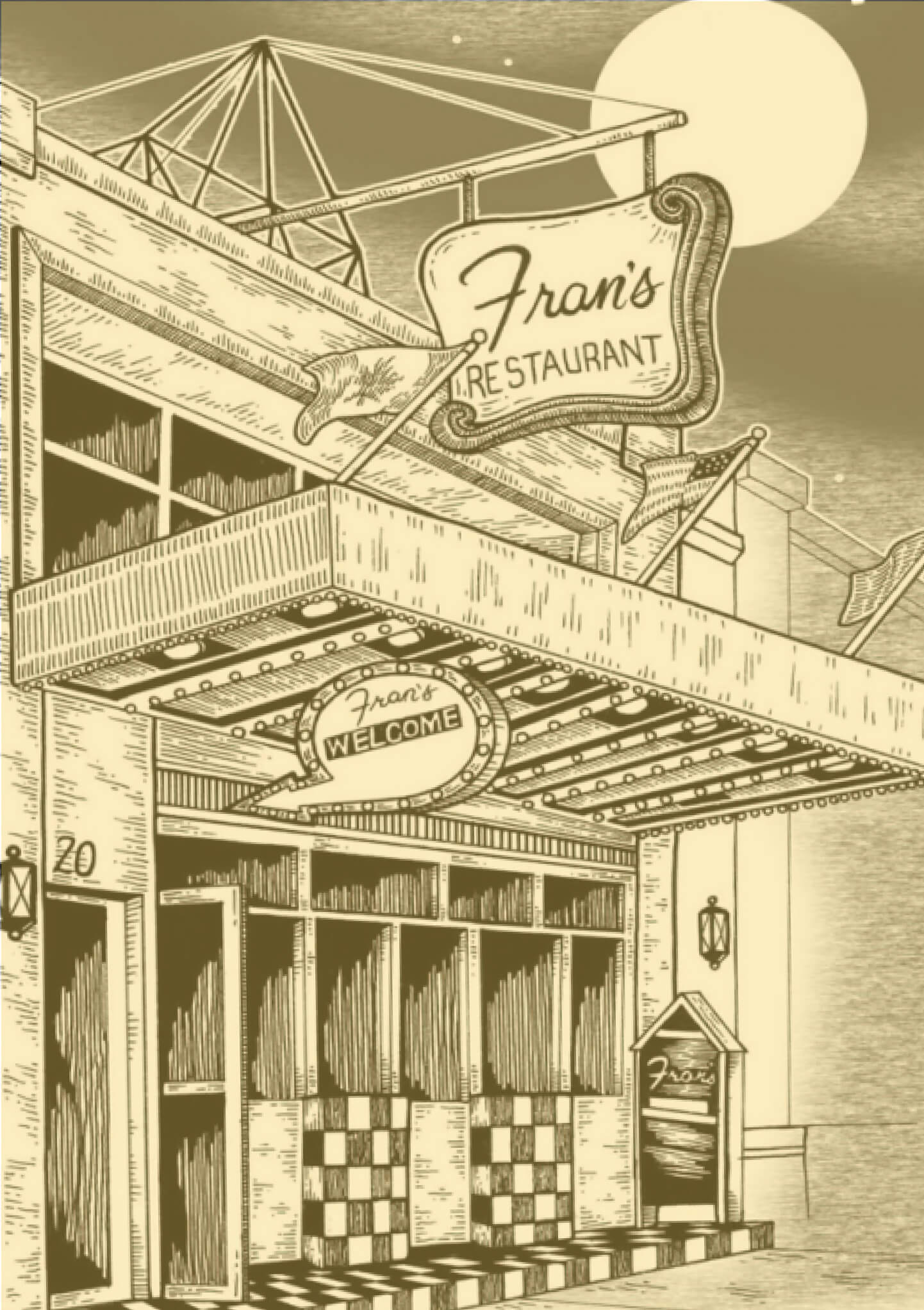 vintage illustration of frans