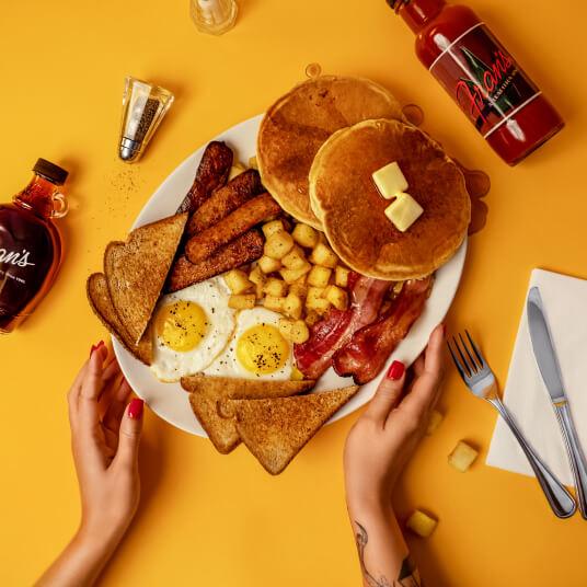 big breakfast from frans