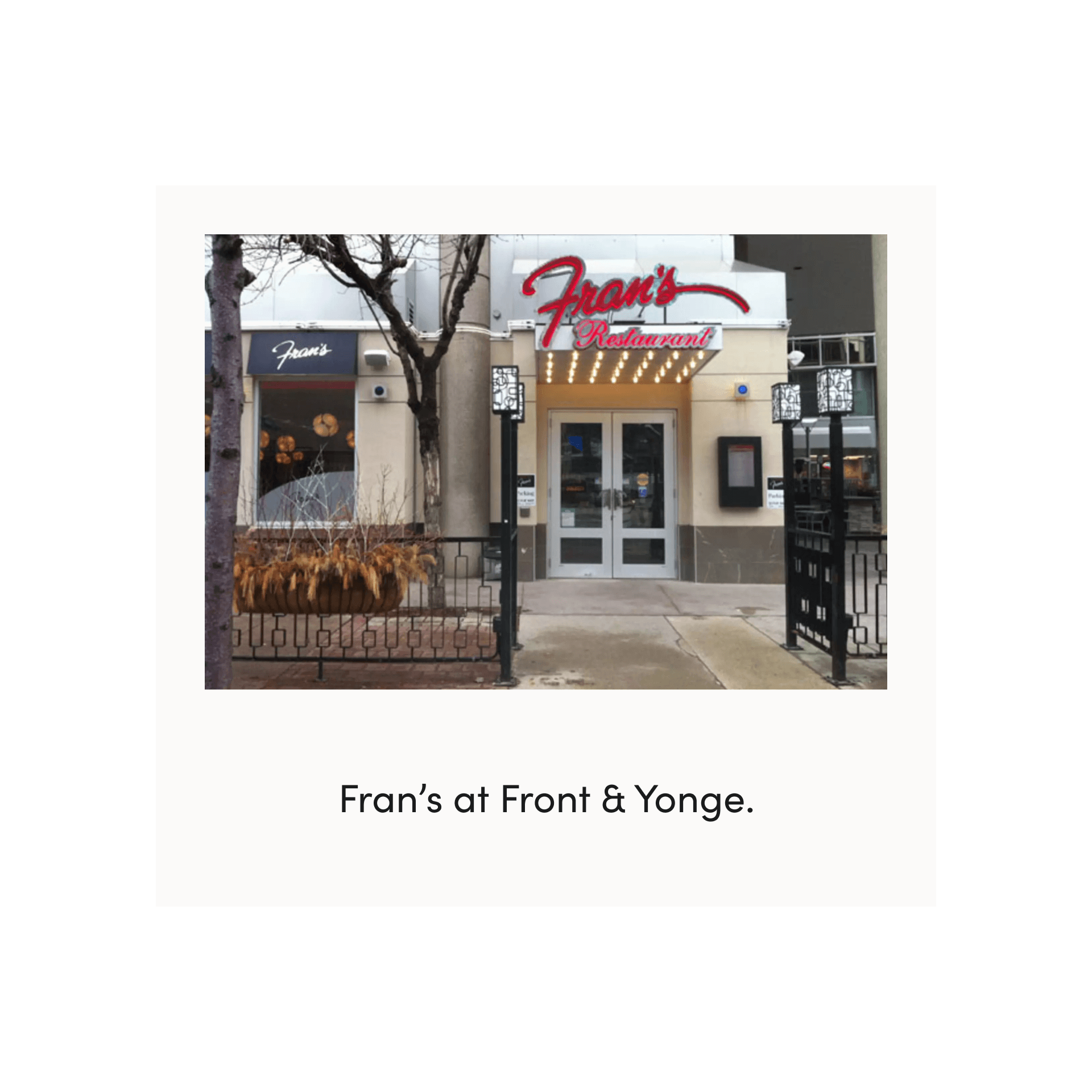 fran's restaurant on front street