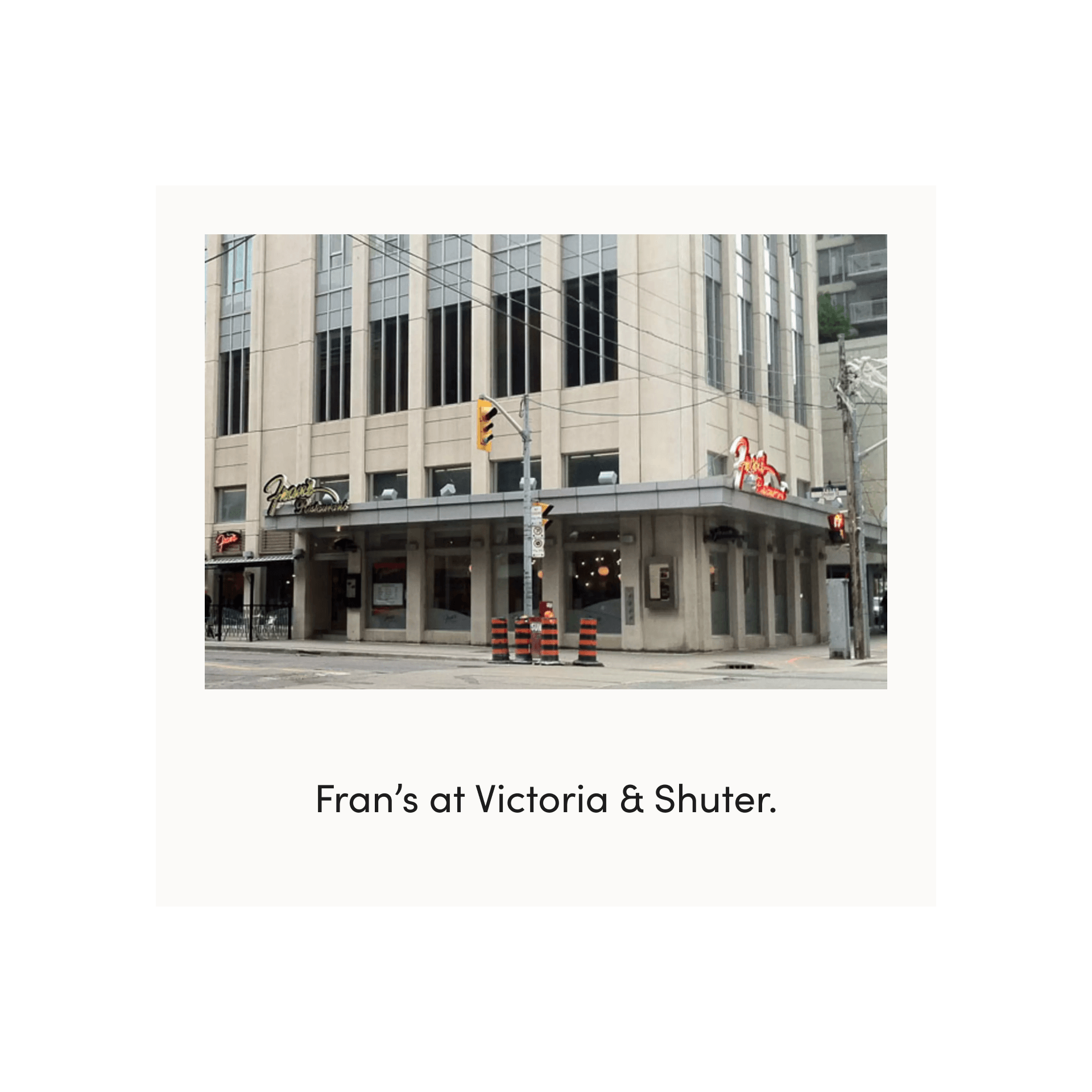 fran's restaurant on victoria street