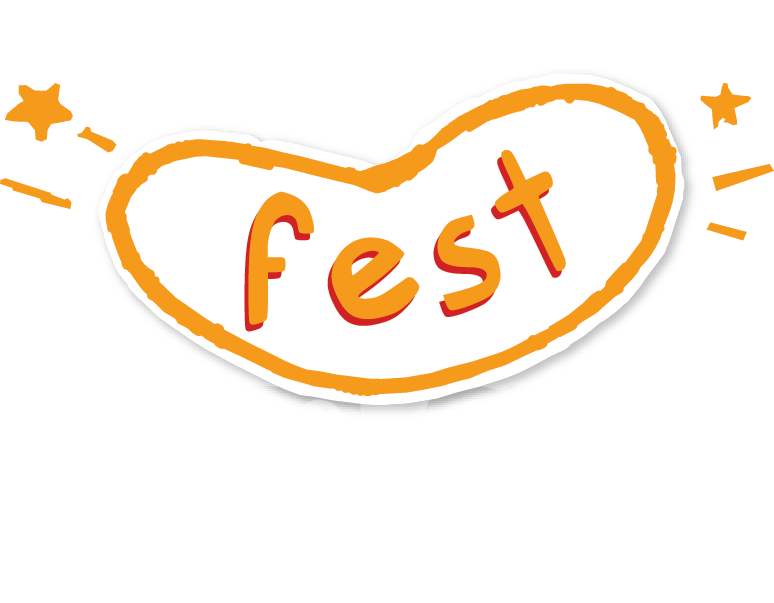 Logo for the New Orleans Fest Fest presented by Krewe of Red Beans.