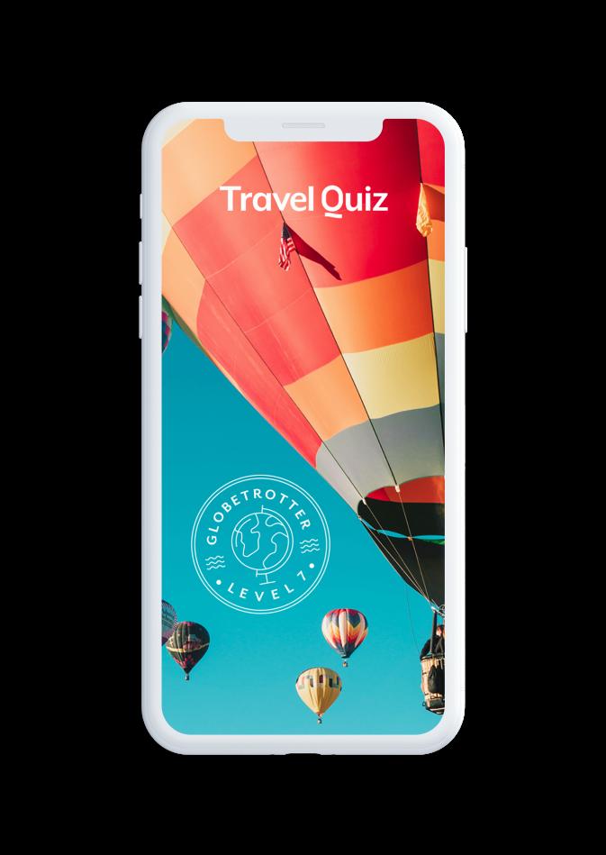Travel Quiz phone rendering