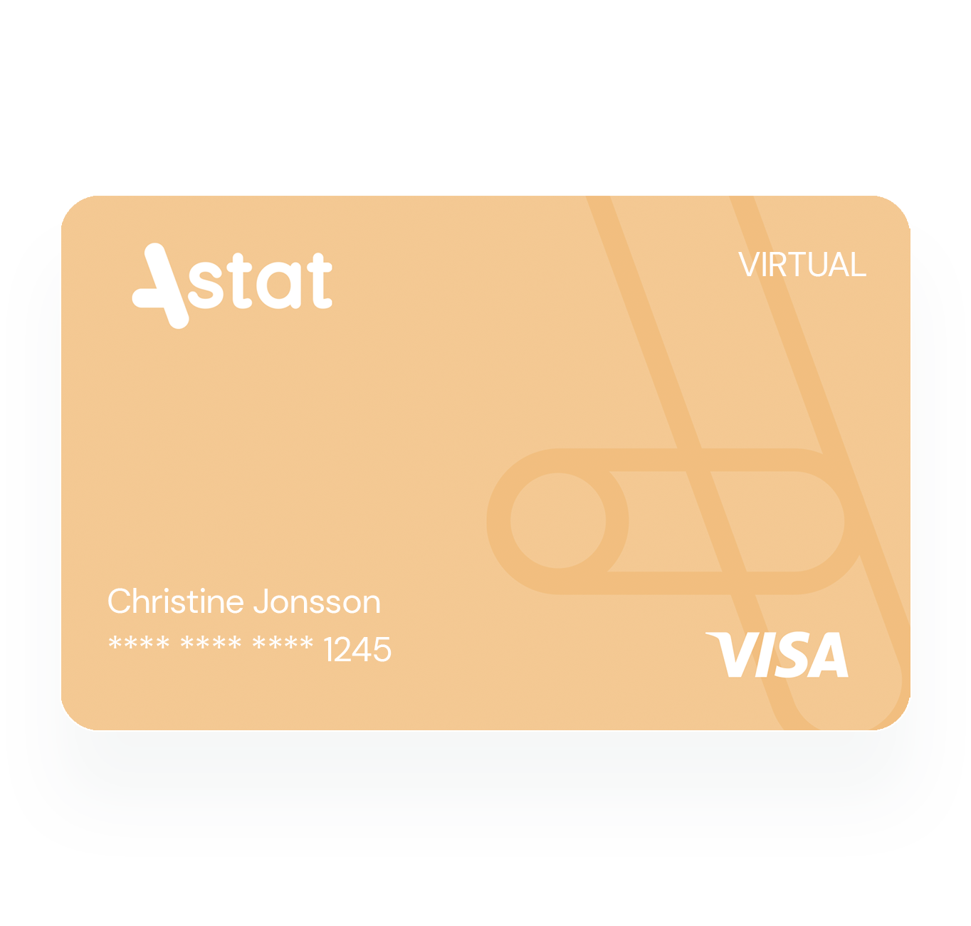 Frontal view of the Astat card