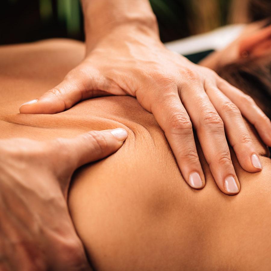 Soothing reflexology massage