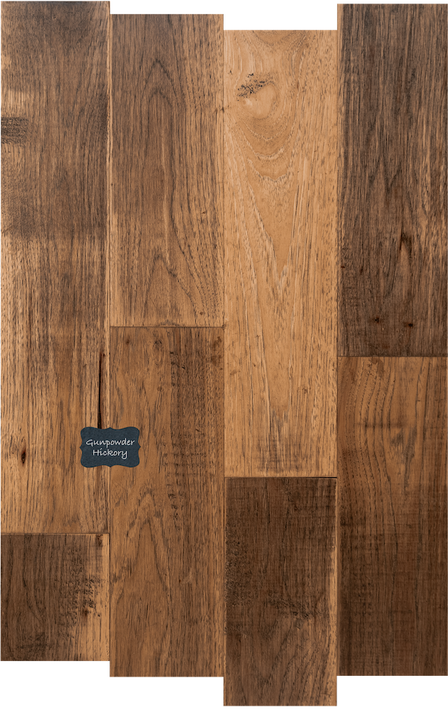 Gunpowder Hickory Wood Flooring. Hickory Hardwood Flooring is a great choice for a high contrast classic look on your floors.