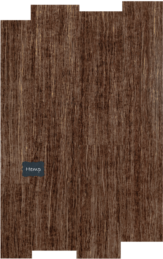 Hemp Wood Flooring. Our Hemp wood floors are made from hemp and a special glue that keeps the floor together in strong pieces for a very unique look unlike any other hardwood floor